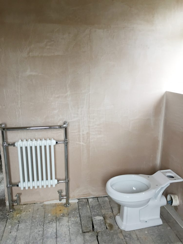 8 - Bathroom - plastered